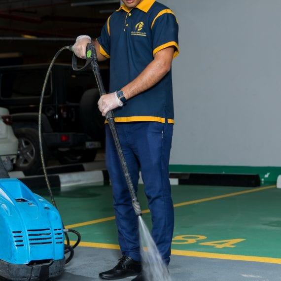 Al Fajer Facility Mangement spray cleaning