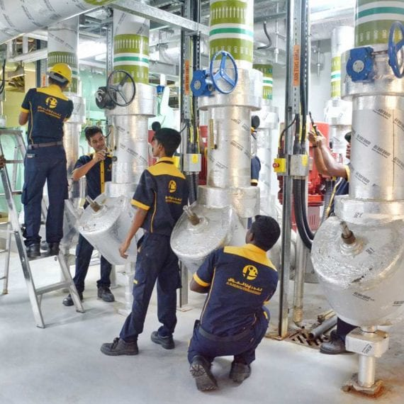 Al Fajer Facility Mangement engineer team